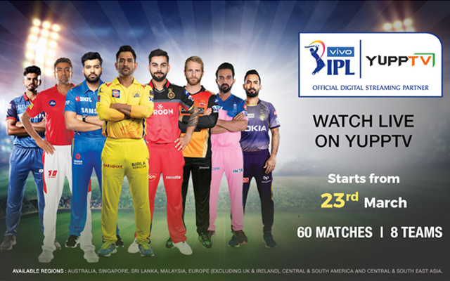 YuppTV bags the digital broadcast rights for VIVO IPL 2019 for