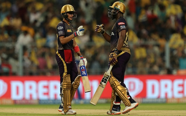 Andre Russell and Shubman Gill