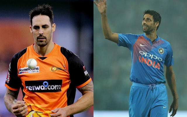 Mitchell Johnson - Ashish Nehra