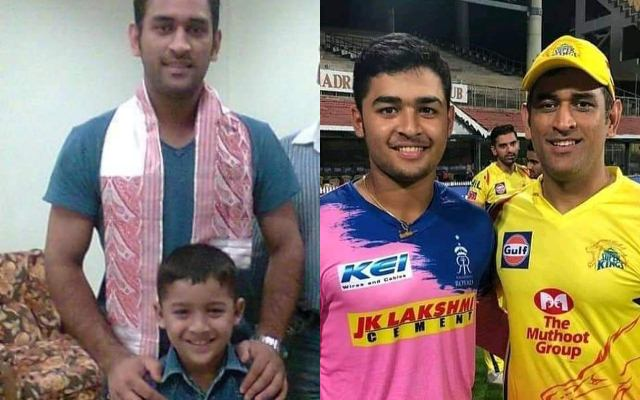 Riyan Parag and MS Dhoni