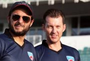Shahid Afridi and Brett Lee