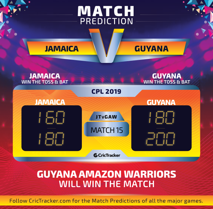 CPL-2019-JTvGAW-match-Prediction-Jamaica-Tallawahs-vs-Guyana-Amazon-Warriors