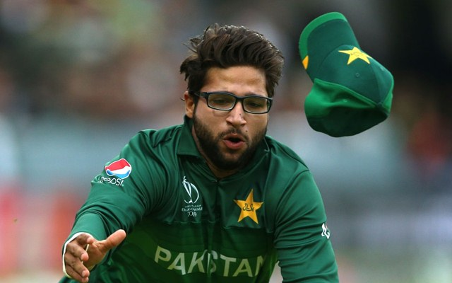 Pakistan's Imam-ul-Haq tries to take a catch during the ICC Cricket World Cup group stage match at Lord's, London. (Photo by Nigel French/PA Images via Getty Images)