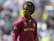 LEEDS, ENGLAND - JULY 4 : Shimron Hetmyer of the West Indies leaves the field after being dismissed during the ICC Cricket World Cup Group Match between Afghanistan and the West Indies at the Headingley on July 4, 2019 in Leeds, England. (Photo by Philip Brown/Popperfoto via Getty Images)