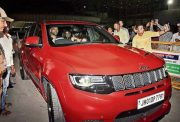 MS Dhoni takes his brand-new Jeep Grand Cherokee Trackhawk