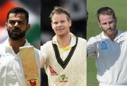 Virat Kohli, Steve Smith and Kane Williamson