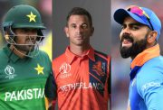 Babar Azam, Ryan ten Doeschate and Virat Kohli