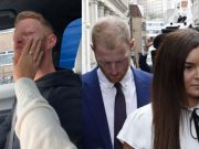 Ben Stokes and his wife