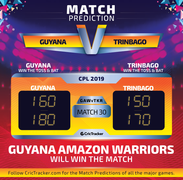 CPL-2019-GAWvTKR-match-30-Prediction-Guyana-Amazon-Warriors-vs-Trinbago-Knight-Riders