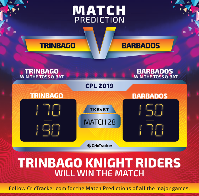 CPL-2019-TKRvBT-match-Prediction-Trinbago-Knight-Riders-vs-Barbados-Tridents