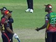 Carlos Brathwaite and Lendl Simmons