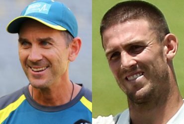 Justin Langer and Mitchell Marsh