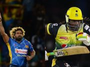 Lasith Malinga and Chris Gayle