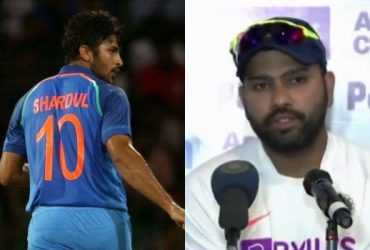 Shardul Thakur and Rohit Sharma