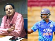 Shasi Tharoor and Sanju Samson