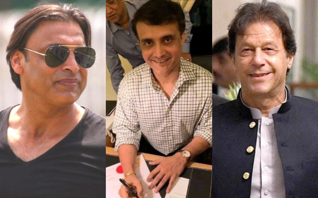 Shoaib Akhtar, Sourav Ganguly and Imran Khan