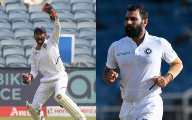 Wriddhiman Saha and Mohammed Shami