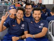 Yuzvendra Chahal morphs his picture with Kuldeep Yadav and Rohit Sharma