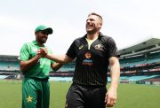 Captains Aaron Finch of Australia and Babar Azam.