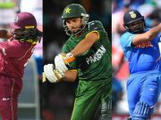 Chris Gayle, Shahid Afridi and Rohit Sharma