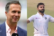 Michael Vaughan and Virat Kohli
