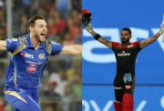 Mitchell McClenaghan and Virat Kohli