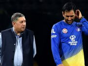 N. Srinivasan and MS Dhoni