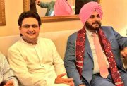 Navjot Singh Sidhu and Faisal Javed Khan