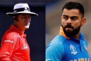 Simon Taufel and Virat Kohli