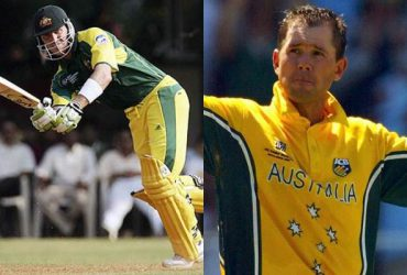 Damien Matyn and Ricky Ponting
