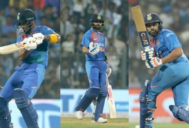 KL Rahul, Virat Kohli and Rohit Sharma
