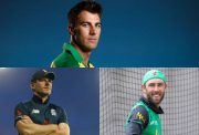 Pat Cummins, Eoin Morgan and Glenn Maxwell