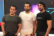 Salman Khan, Irfan Pathan and Sudeep