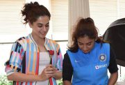 Taapsee Pannu and Mithali Raj