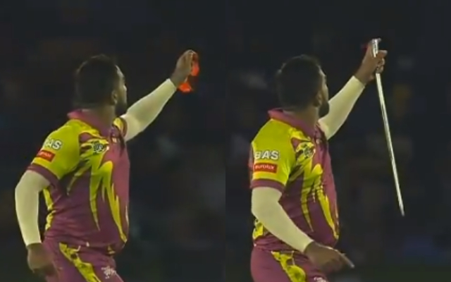 'Magical stuff': Bowler's absurd celebration after T20 wicket