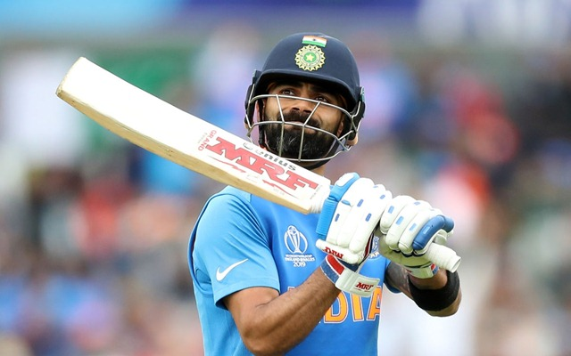 Virat Kohli walks off against Pakistan in World Cup 2019