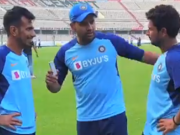 Yuzvendra Chahal, Rohit Sharma and Kuldeep Yadav