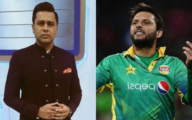 Aakash Chopra and Shahid Afridi