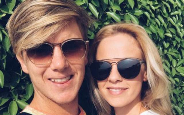 Adam Zampa and Hattie Palmer