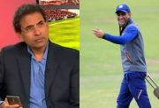 Harsha Bhogle and MS Dhoni
