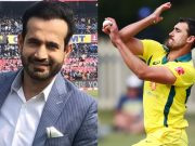 Irfan Pathan and Mitchell Starc