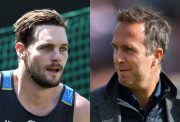 Mitchell McClenaghan and Michael Vaughan