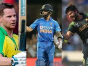 Steve Smith, Virat Kohli and Ahmed Shehzad