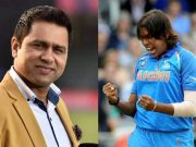 Aakash Chopra and Jhulan Goswami
