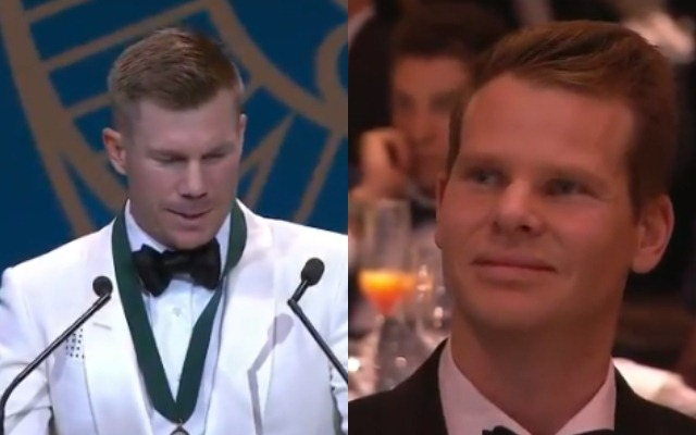 David Warner delivers emotional speech after winning Allan Border Medal