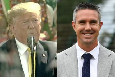 Donald Trump and Kevin Pietersen