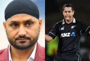 Harbhajan Singh and Ross Taylor