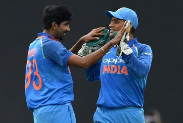Jasprit Bumrah and MS Dhoni