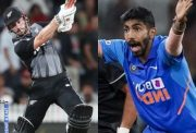 Kane Williamson and Jasprit Bumrah