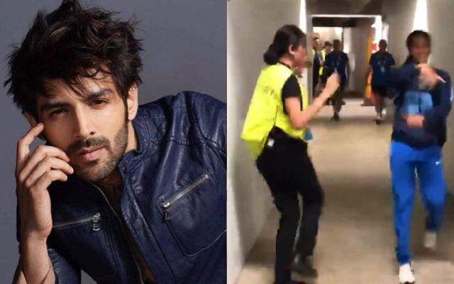 Kartik Aaryan reacts to cricketer Jemimah Rodrigues dancing to Haan Main Galat with security guard at Womens T20 World Cup